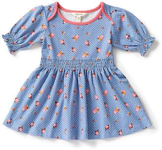Matilda Jane Clothing Girls' Tunics - Blue Dot Floral Blue Skies A-Line Dress - Girls