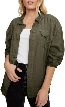 Michael Stars Maliah Denim Jacket w/ Contrast Stitching