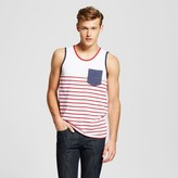 Mossimo Men's Americana Retro Tank Top Red Stripe