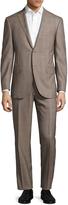 Corneliani Men's Wool Checkered Notch Lapel Suit
