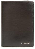Burberry Men's 'Kirtley' Calfskin Leather Passport Case - Black