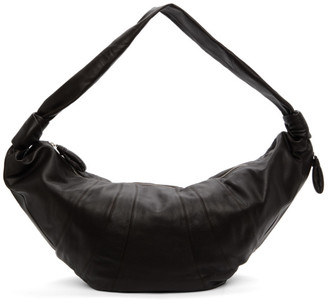 Lemaire Brown Grained Giant Croissant Bag