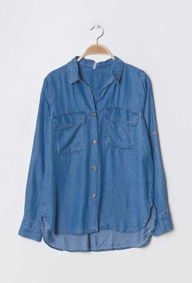 Alresford Linen Chambray Denim Shirt - L