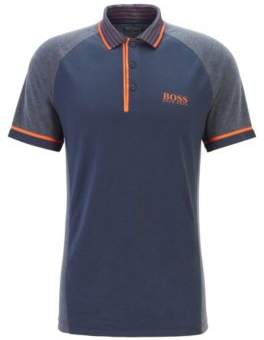 Slim-fit golf polo shirt in moisture-wicking fabric