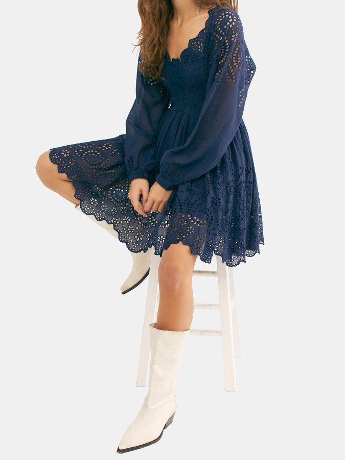 Free People Lottie Eyelet Lace Mini Dress