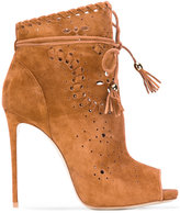 Le Silla tassel tie shoe boots - women - Leather/Suede - 39
