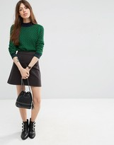 Asos Cord A line Mini Skirt in Gray