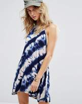Billabong High Neck Cami Swing Beach Dress In Tie Dye