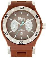 B360 WATCH Unisex Quartz Watch Analogue Display and Silicone Strap B CLASS Silver Brown L
