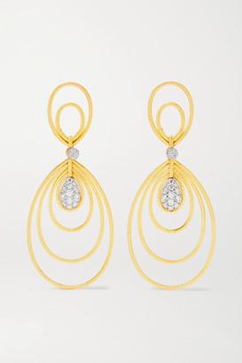 Buccellati Hawaii Waikiki 18-karat Gold Diamond Earrings