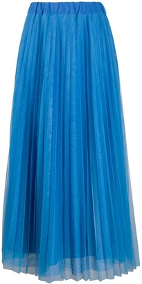 P.A.R.O.S.H. Tulle Pleated Skirt