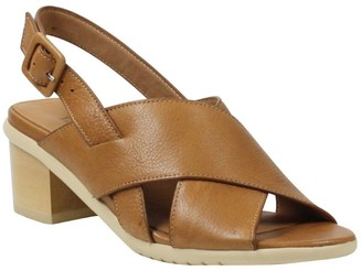 L'Amour des Pieds Leather Slingback Sandals - Wangala