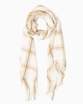 Charming charlie Tattersall Plaid Blanket Scarf