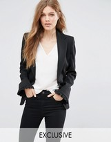 Helene Berman Ruffle Front Blazer