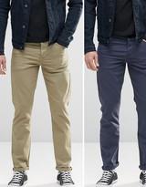 Asos 2 Pack Stretch Slim Jeans Save