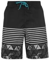 Hot Tuna Mens Dive Shorts Beach Pants Boardshorts Mesh Stripe Pattern Drawstring