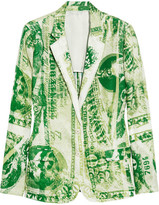 Acne Jinx Currency printed satin-twill blazer