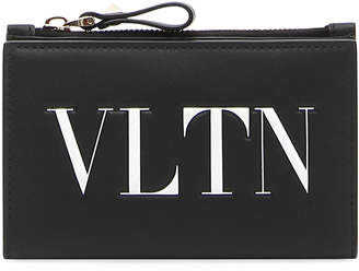 Valentino Garavani VLTN Logo Coin Purse/Card Case
