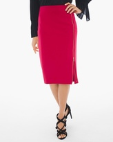 Chico's Side-Zip Ponte Pencil Skirt