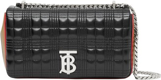 Burberry Small Lola Icon Stripe Detail Quilted Bag