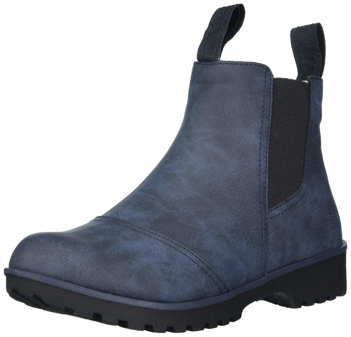 Ladies Navy Blue Suede Chelsea Ankle Boots with Elastic Gusset Catesby LCX3167D