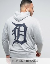 Majestic PLUS Detroit Tigers Hoodie With Back Print