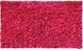 The Well Appointed House Child's Shaggy Raggy Rug in Raspberry-Available in Three Different Sizes