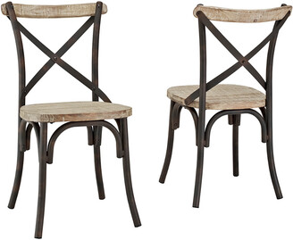 Set Of 2 Hewson Industrial X-Back Kitchen Dining Chairs