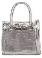 Nancy Gonzalez Small Metallic Double-Handle Tote Bag