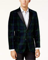 Tommy Hilfiger Men's Modern-Fit Tartan Velvet Dinner Jacket