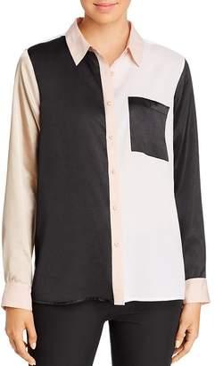 Calvin Klein Color-Block Blouse