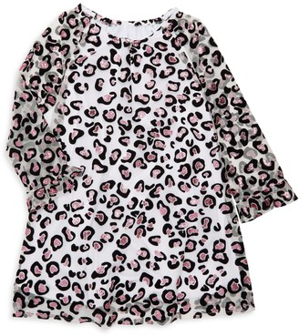 Pippa Pastourelle By & Julie Little Girl's Leopard-Print Illusion-Sleeve Dress