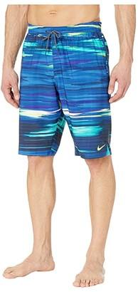Nike 11 Sky Stripe Vital Volley Shorts (Black) Men's Swimwear