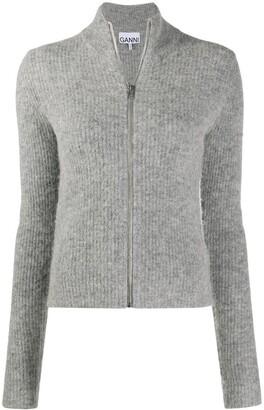 Ganni Soft-Knit Zipped Cardigan
