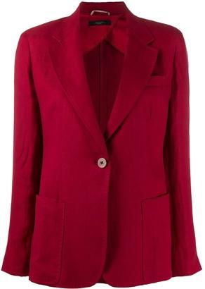 Max Mara Single-Button Linen Blazer
