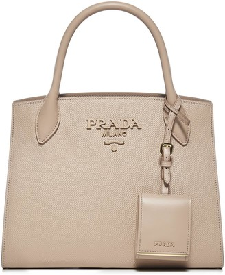 Prada Monochrome Small Saffiano Leather Bag