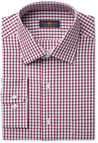 Club Room Estate Men's Classic-Fit Wrinkle-Resistant Wine Check Dress Shirt, Only at Macy's