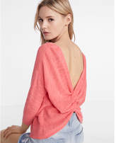 Express back twist bateau sweater