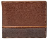 Fossil Men's 'Ian' Leather Bifold Wallet - Brown