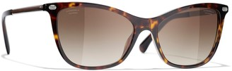Chanel Polarised Cat's Eye Sunglasses CH5437Q Havana/Brown Gradient