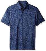 Nautica Men's Slim Fit Short Sleeve Print Polo Shirt