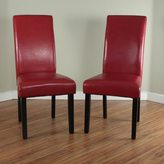 Monsoon Villa Faux Leather Red Dining Chairs (Set of 2)