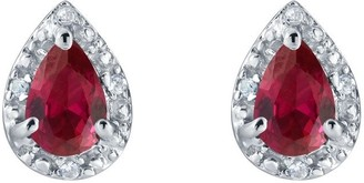 Sterling Silver Pear Shaped Simulated GemstoneEarrings
