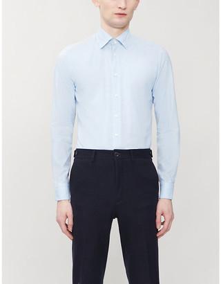 Eton Slim-fit cotton and silk-blend twill shirt