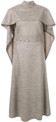 AKIRA NAKA fitted waist cape dress