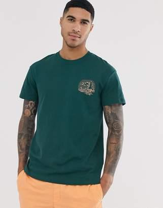 Jack and Jones Originals back graphic logo t-shirt in green