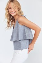 Backstage Riviera Chambray Tie-Shoulder Tank Top