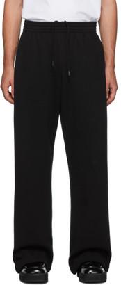 Martine Rose Black Wide-Leg Lounge Pants