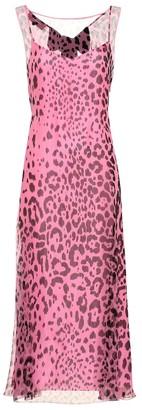 Rochas Leopard silk midi dress