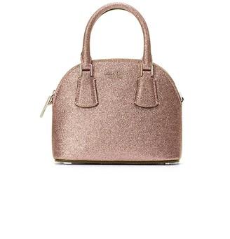 Kate Spade Mini Sylvia Dome Glitter Leather Satchel